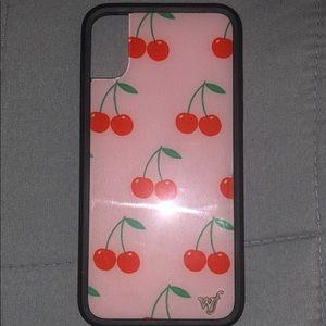 iPhone X/Xs cherry wildflower case